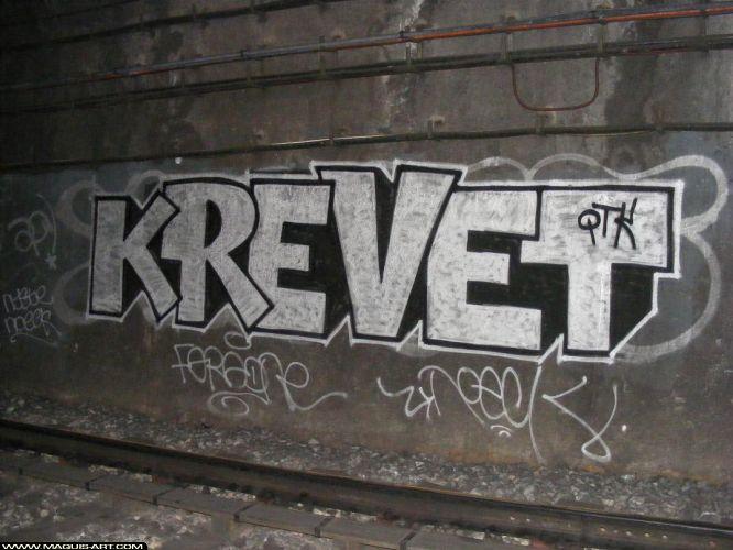 Krevet. QTK 14315-graffiti-krevet-2008-Tunnel-metro-Paris-MaquisArt.com