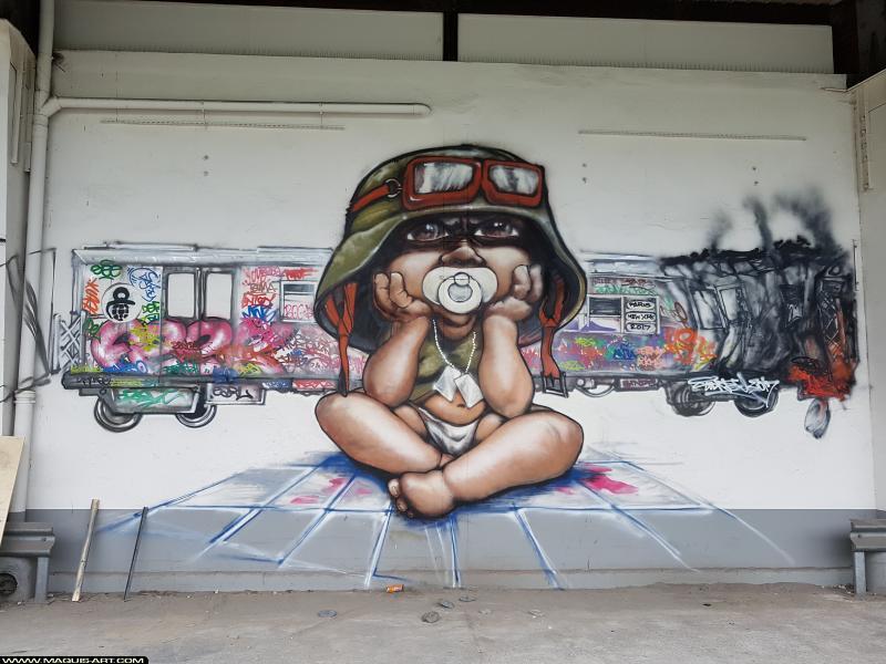 Photo de SIDNE, réalisée au Maquis-art Wall of fame - L'aérosol, Paris