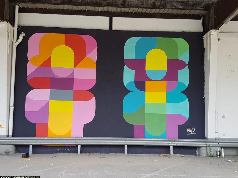 Photo de MATU, réalisée au Maquis-art Wall of fame - L'aérosol, Paris