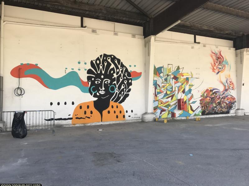 Photo de CECIRO, R2RIEN, JOWEL, réalisée au Maquis-art Wall of fame - L'aérosol, Paris