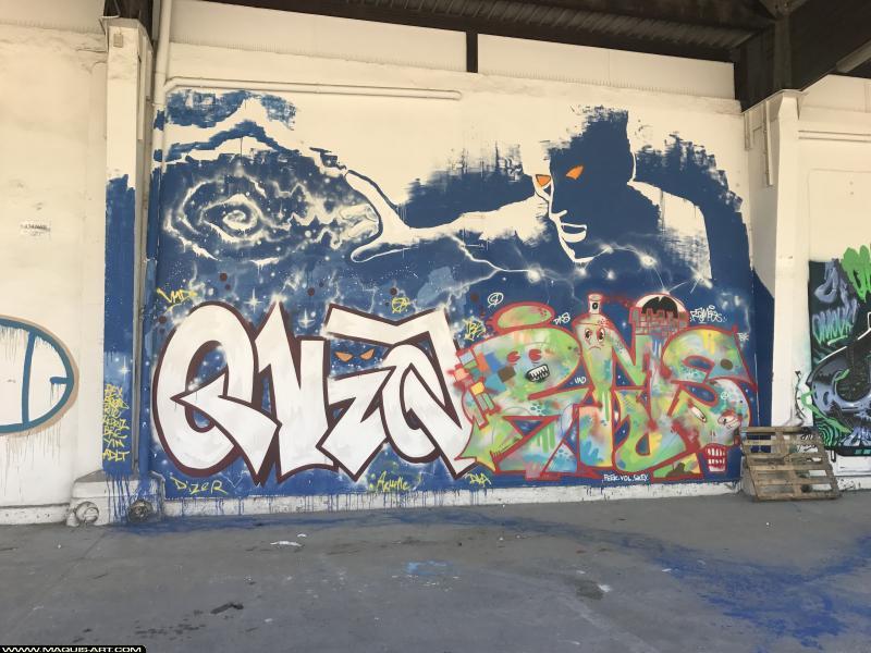 Photo de ONEA, RAMSES, réalisée au Maquis-art Wall of fame - L'aérosol, Paris