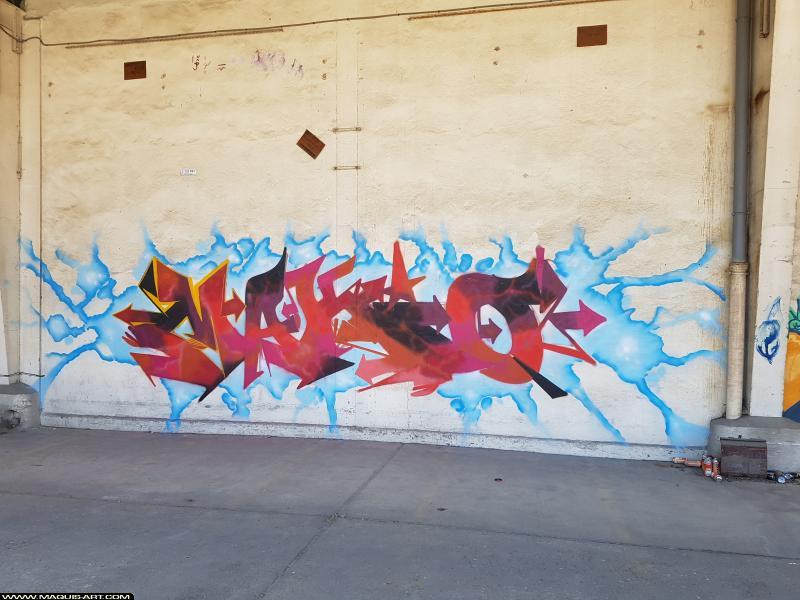 Photo de MAKIO, réalisée au Maquis-art Wall of fame - L'aérosol, Paris
