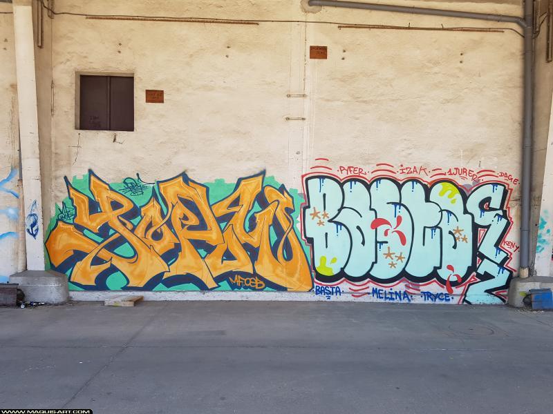 Photo de YOPOW, BASTA, réalisée au Maquis-art Wall of fame - L'aérosol, Paris