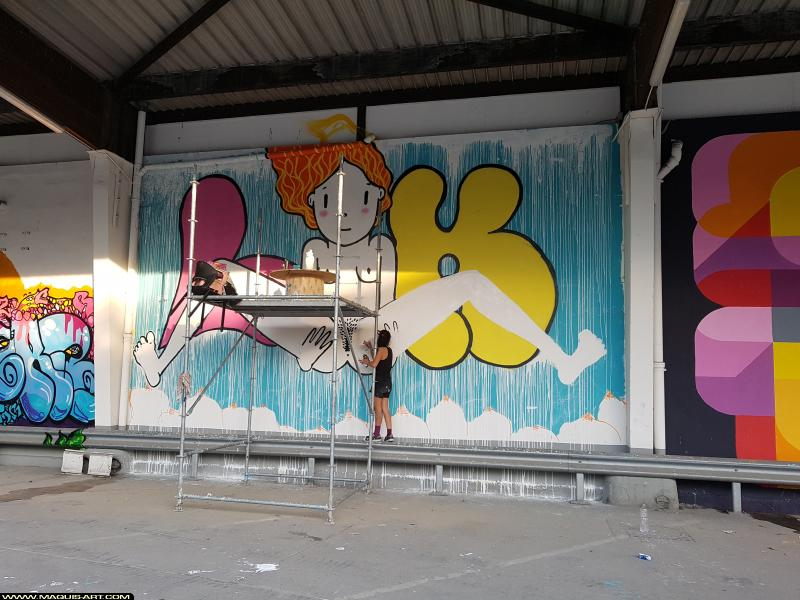 Photo de LIK ME, réalisée au Maquis-art Wall of fame - L'aérosol, Paris
