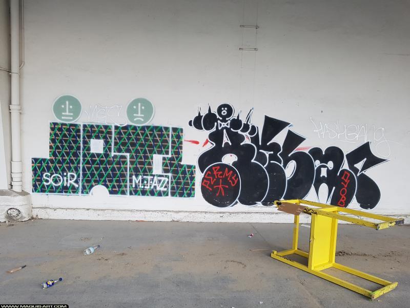 Photo de AKBAR, SOIR, réalisée au Maquis-art Wall of fame - L'aérosol, Paris