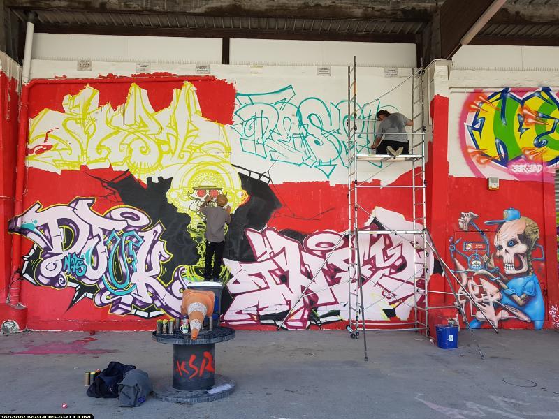 Photo de MAXY.T, DJUK, INXY, LER, réalisée au Maquis-art Wall of fame - L'aérosol, Paris
