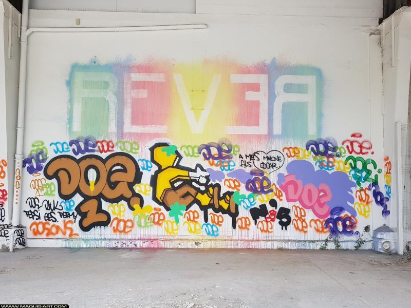 Photo de REVER, DOé, réalisée au Maquis-art Wall of fame - L'aérosol, Paris