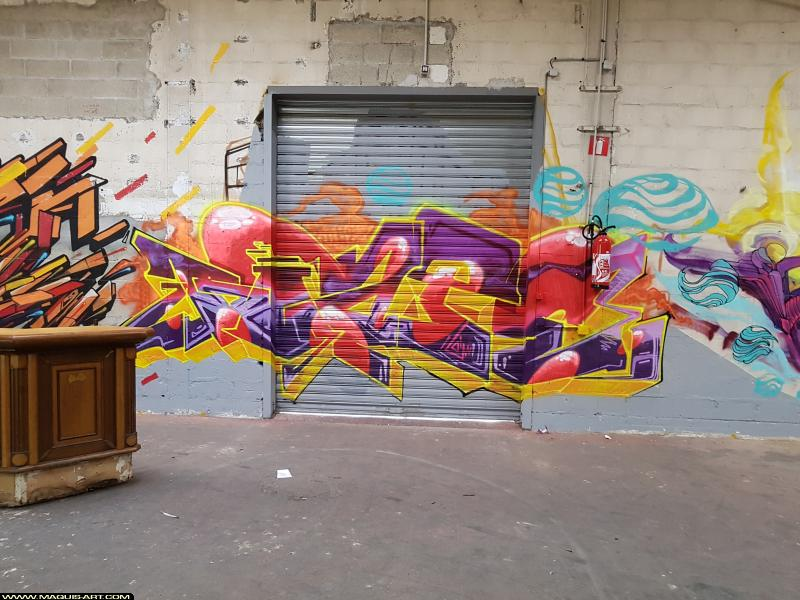 Photo de BIAT, réalisée au Maquis-art Wall of fame - L'aérosol, Paris