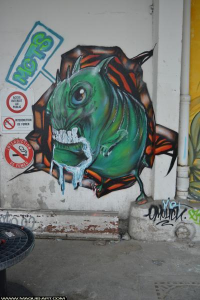 Photo de MCT, réalisée au Maquis-art Wall of fame - L'aérosol, Paris