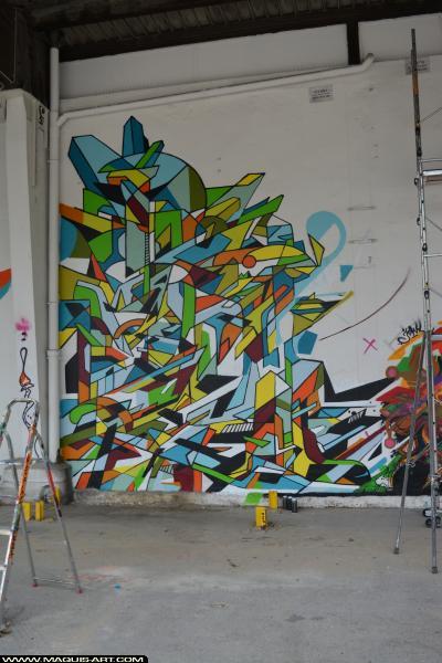 Photo de R2RIEN, réalisée au Maquis-art Wall of fame - L'aérosol, Paris