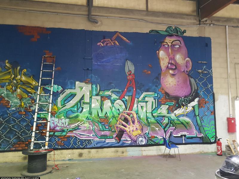Photo de OMOUK, TOREK, réalisée au Maquis-art Wall of fame - L'aérosol, Paris