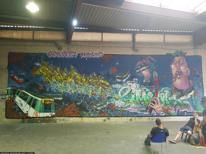 Photo de TOREK, OMOUK, réalisée au Maquis-art Wall of fame - L'aérosol, Paris