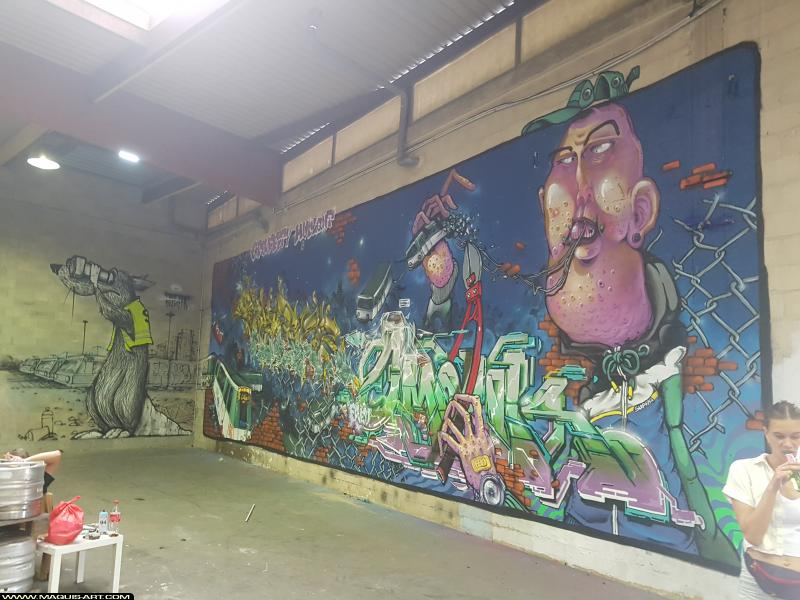 Photo de MICHAEL BEERENS, TOREK, OMOUK, réalisée au Maquis-art Wall of fame - L'aérosol, Paris