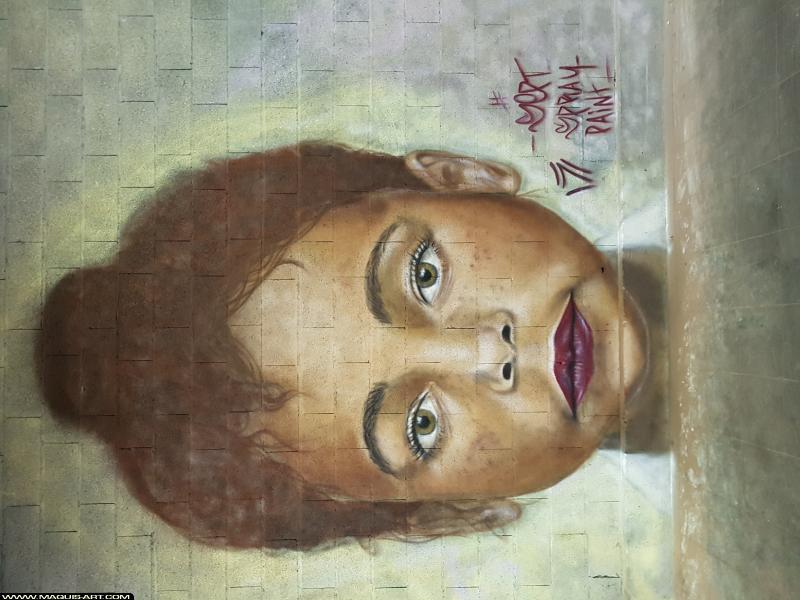 Photo de SEPT, réalisée au Maquis-art Wall of fame - L'aérosol, Paris