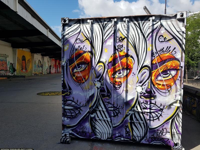Photo de JALLAL, réalisée au Maquis-art Wall of fame - L'aérosol, Paris