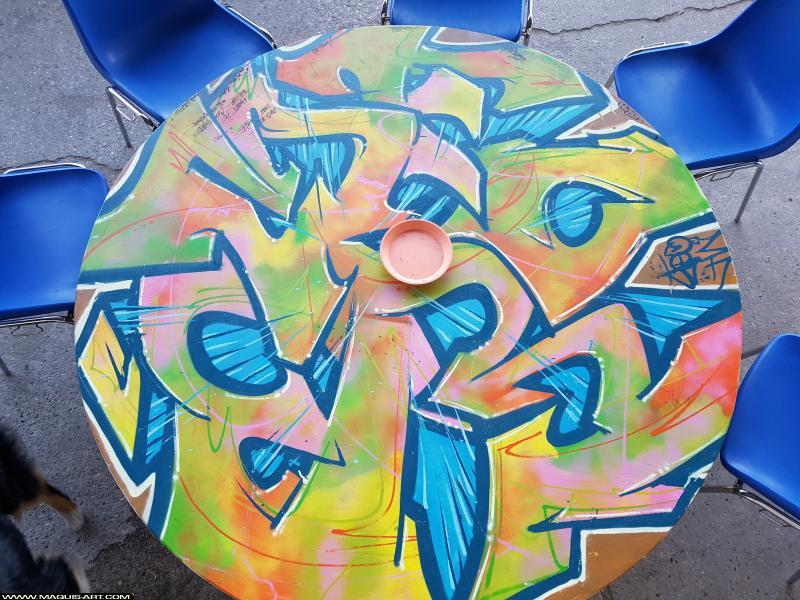 Photo de YOPOW, réalisée au Maquis-art Wall of fame - L'aérosol, Paris