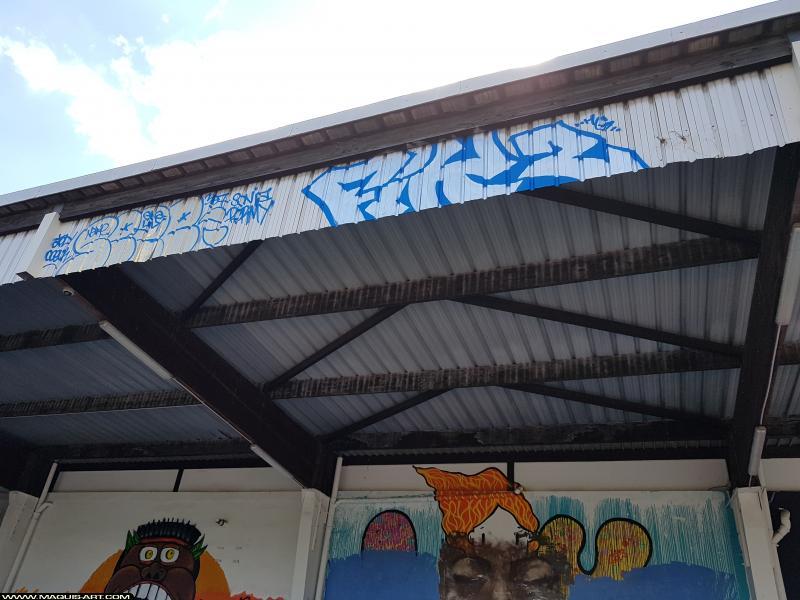 Photo de SEZE, 2FEAK, réalisée au Maquis-art Wall of fame - L'aérosol, Paris