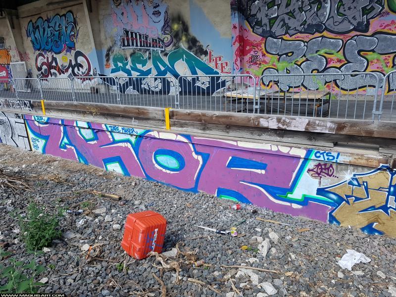 Photo de 2KOR, réalisée au Maquis-art Wall of fame - L'aérosol, Paris