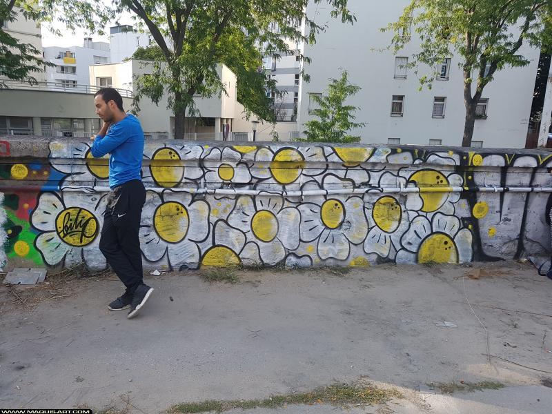 Photo de FILIP, réalisée au Maquis-art Wall of fame - L'aérosol, Paris