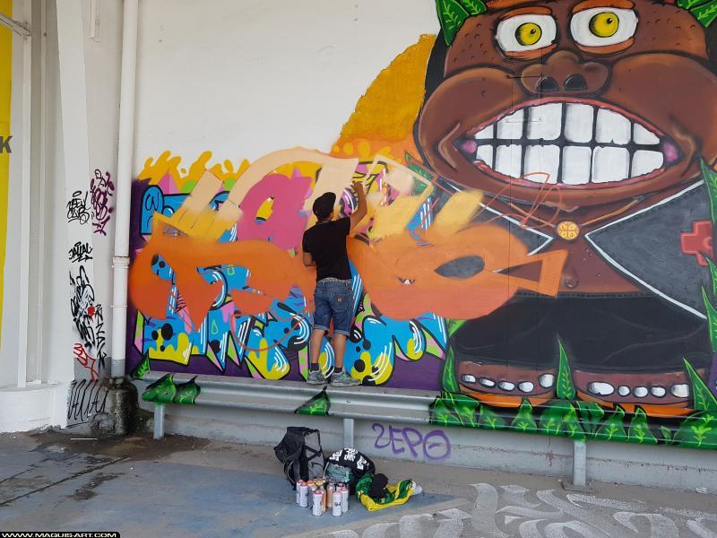 Photo de KARS, réalisée au Maquis-art Wall of fame - L'aérosol, Paris