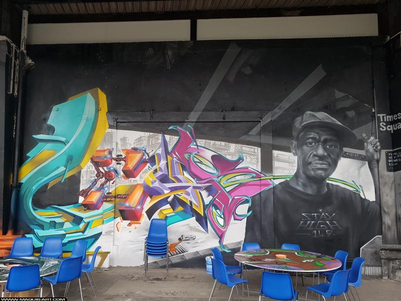 Photo de HEC, réalisée au Maquis-art Wall of fame - L'aérosol, Paris