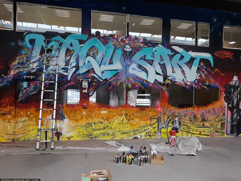 Photo de JALLAL, JOWEL, réalisée au Maquis-art Wall of fame - L'aérosol, Paris
