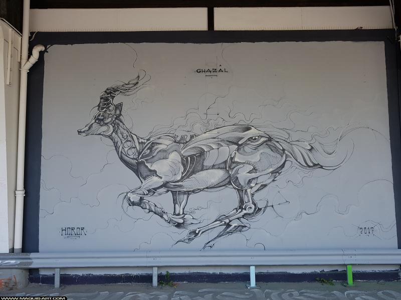 Photo de HOROR, réalisée au Maquis-art Wall of fame - L'aérosol, Paris