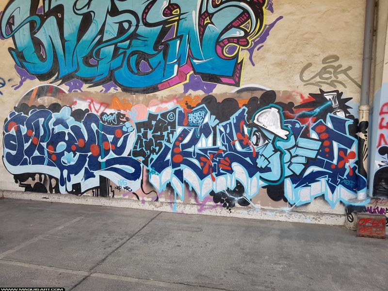 Photo de PROPE, BYOFA, réalisée au Maquis-art Wall of fame - L'aérosol, Paris