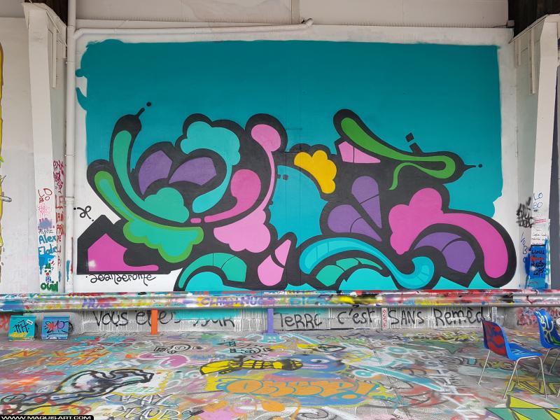 Photo de JEAN JéRôME, réalisée au Maquis-art Wall of fame - L'aérosol, Paris