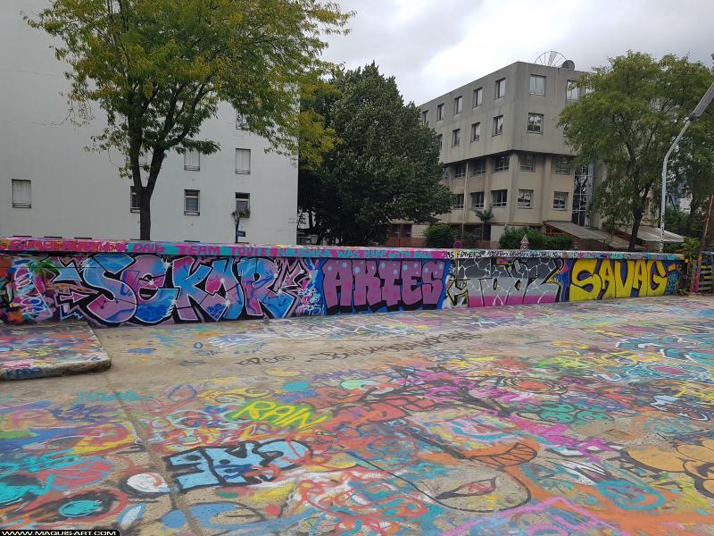 Photo de SEKOR, AKIES, TOOZ, SAVAG, réalisée au Maquis-art Wall of fame - L'aérosol, Paris