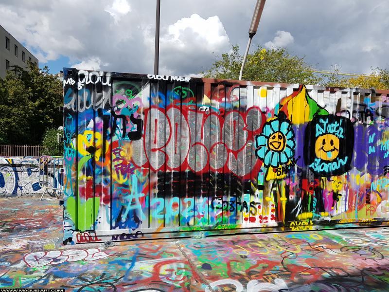 Photo de PONé, réalisée au Maquis-art Wall of fame - L'aérosol, Paris