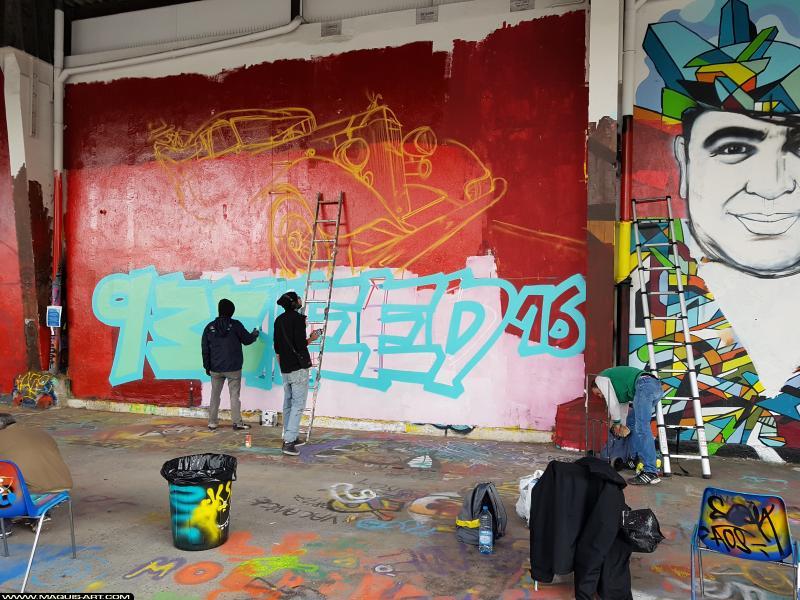 Photo de SHEED16, réalisée au Maquis-art Wall of fame - L'aérosol, Paris