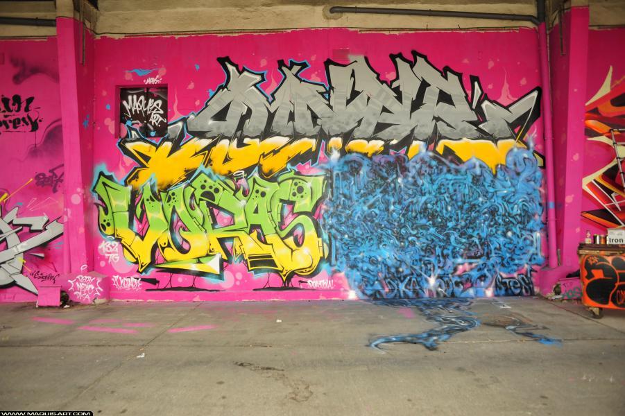 Photo de RONER, VORAS, STESI, réalisée au Maquis-art Wall of fame - L'aérosol, Paris