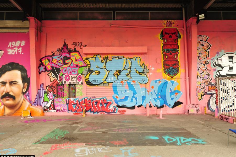 Photo de REGA, KEFA, SHEG, réalisée au Maquis-art Wall of fame - L'aérosol, Paris