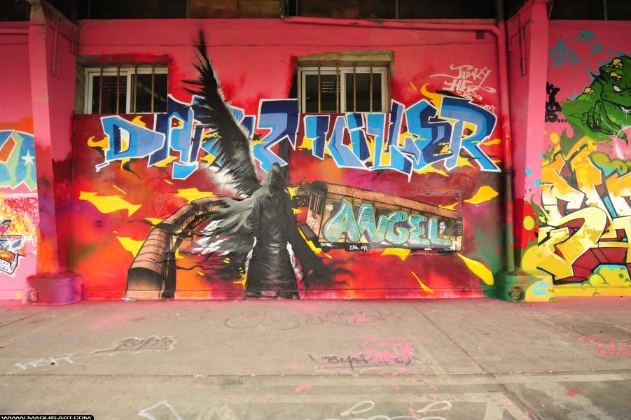 Photo de HEC, JUNKY, réalisée au Maquis-art Wall of fame - L'aérosol, Paris