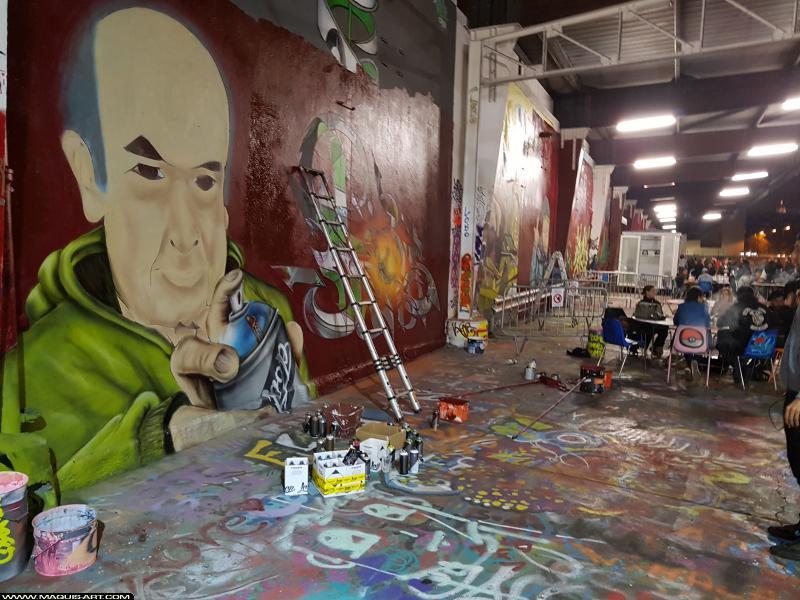 Photo de KSR, DAMS (HEC ODV), réalisée au Maquis-art Wall of fame - L'aérosol, Paris