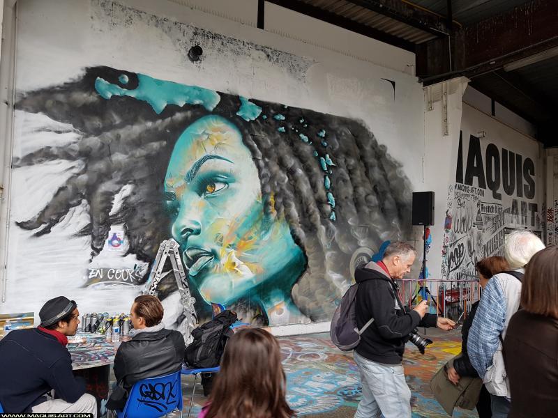 Photo de ???, réalisée au Maquis-art Wall of fame - L'aérosol, Paris