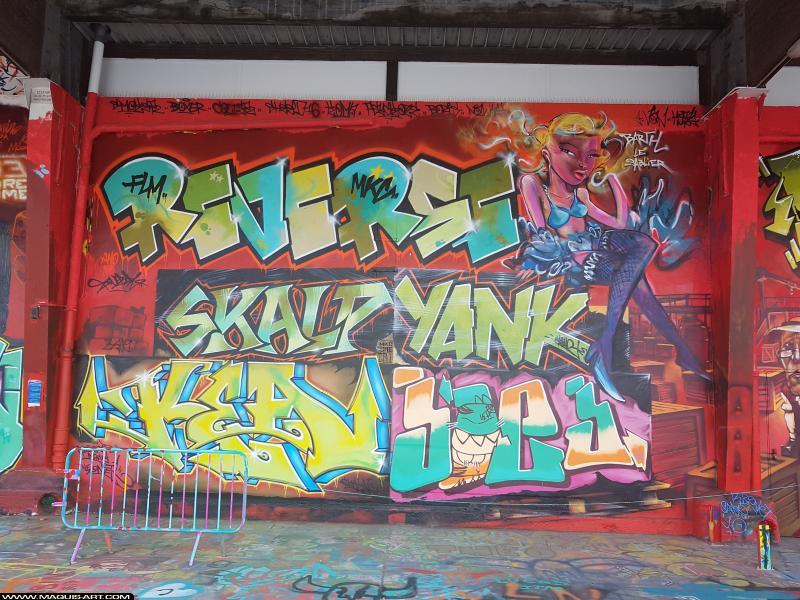 Photo de YANK, KEA, SKALP, REVERSE, BARTH, réalisée au Maquis-art Wall of fame - L'aérosol, Paris