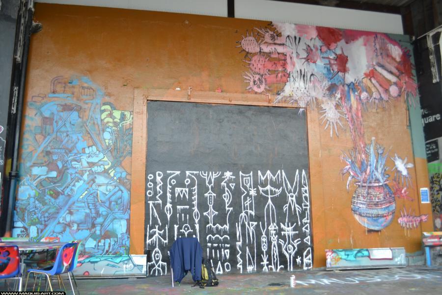 Photo de BAULT, TETAR, POPAY, réalisée au Maquis-art Wall of fame - L'aérosol, Paris