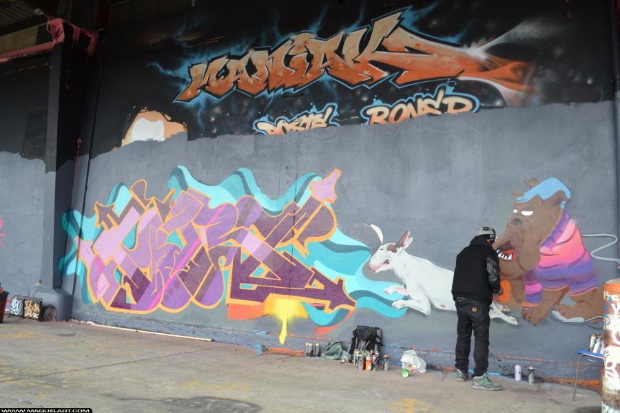 Photo de ODV, KARS, réalisée au Maquis-art Wall of fame - L'aérosol, Paris