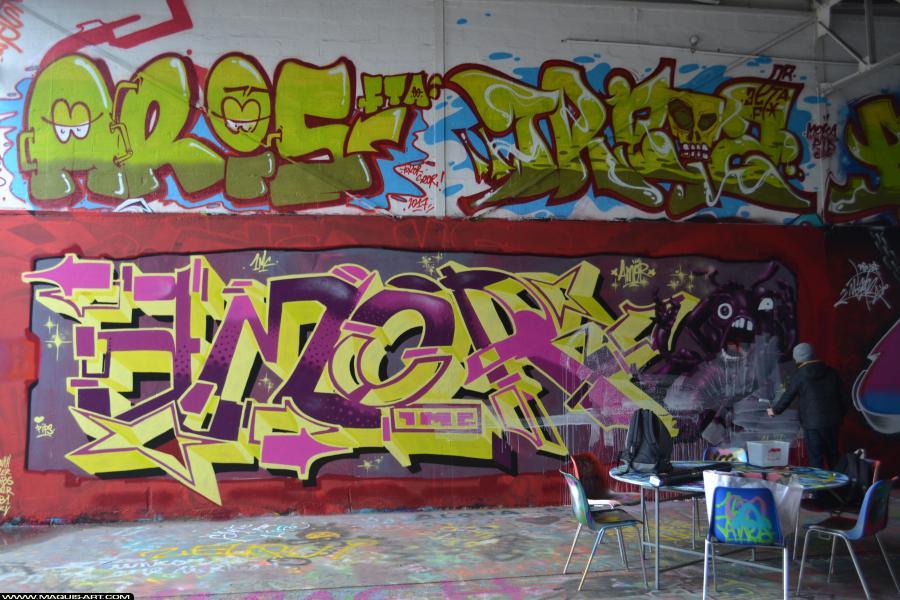 Photo de KURTZ AMOR, 1MC, ???, réalisée au Maquis-art Wall of fame - L'aérosol, Paris