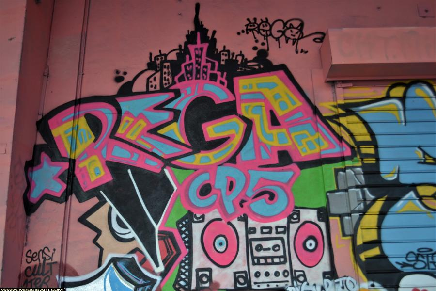 Photo de REGA, CP5, réalisée au Maquis-art Wall of fame - L'aérosol, Paris