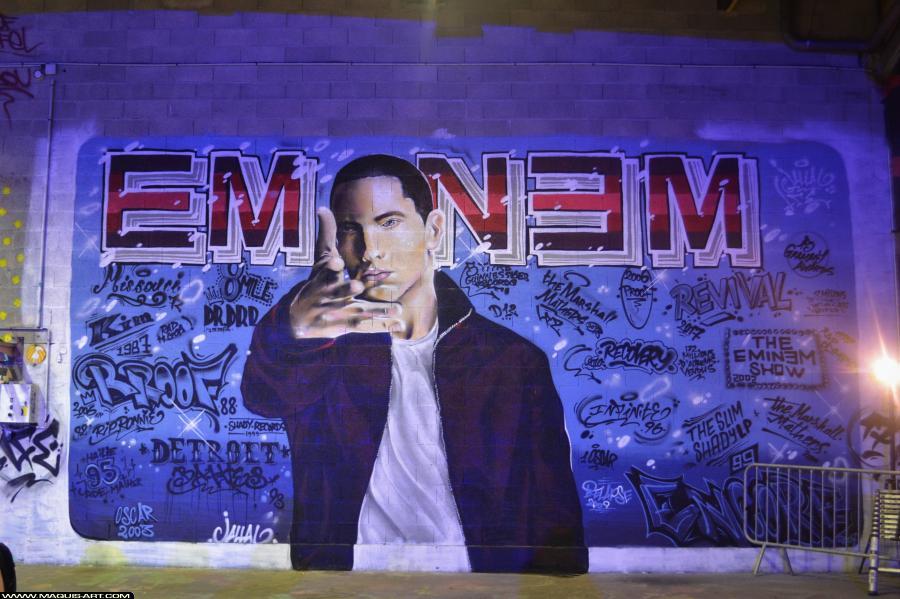 Photo de JALLAL, LFE, réalisée au Maquis-art Wall of fame - L'aérosol, Paris