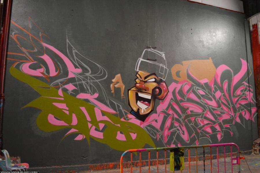Photo de DAMS (HEC ODV), ESPER, ZCAPE, réalisée au Maquis-art Wall of fame - L'aérosol, Paris