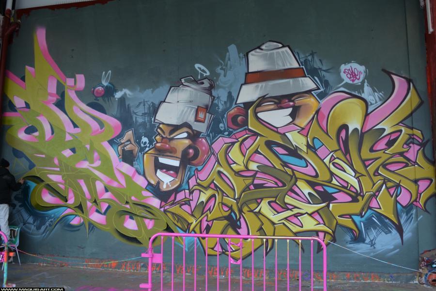 Photo de ZCAPE, DAMS (HEC ODV), ESPER, réalisée au Maquis-art Wall of fame - L'aérosol, Paris