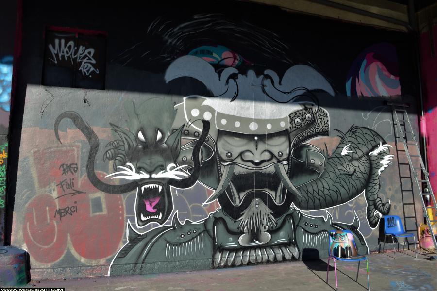 Photo de UR78, réalisée au Maquis-art Wall of fame - L'aérosol, Paris