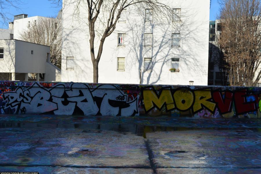 Photo de BIAT, MORVE, réalisée au Maquis-art Wall of fame - L'aérosol, Paris