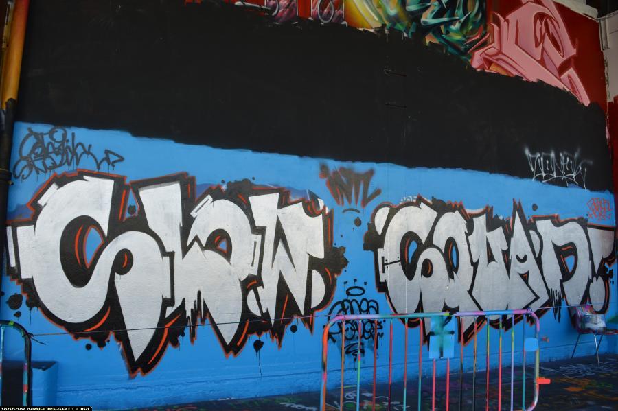 Photo de SONEA, HODEZ, réalisée au Maquis-art Wall of fame - L'aérosol, Paris