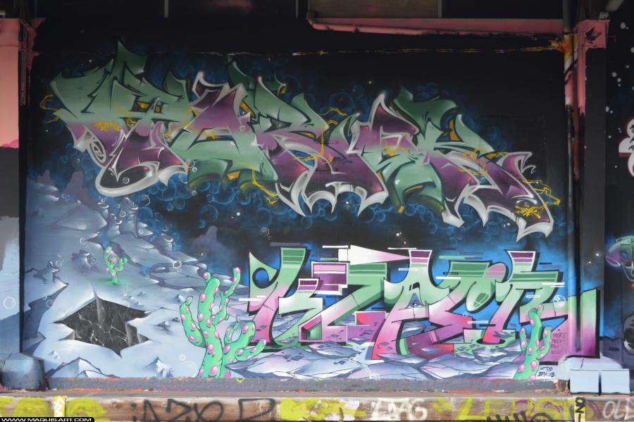 Photo de KSPER, TOREK, ODV, réalisée au Maquis-art Wall of fame - L'aérosol, Paris