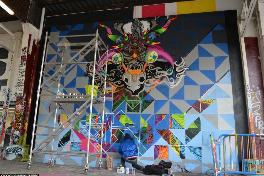 Photo de KARS, ODV, réalisée au Maquis-art Wall of fame - L'aérosol, Paris